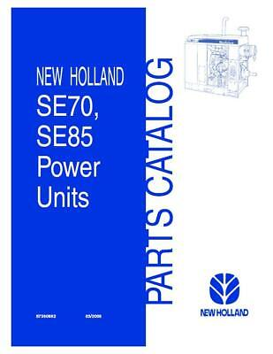 New Holland Se7085 Irrigation Power Unit Parts Catalog