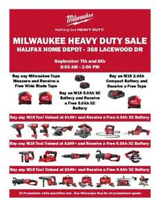 MILWAUKEE TOOLS EVENT at the HALIFAX HOME DEPOT