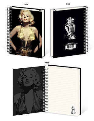 MARILYN MONROE GOLD SPIRAL NOTEBOOK SEX SYMBOL ICON WOMEN POWER BEAUTIFUL ACTING