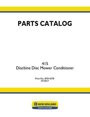 New Holland 415 Discbine Mower-conditioner Parts Catalog