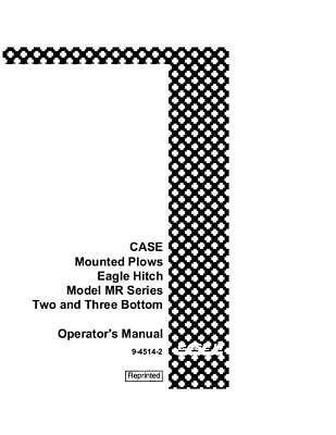 Case Ih Mounted Eagle Hitch Model Mr Series 2 3 Bottom- Operators Manual