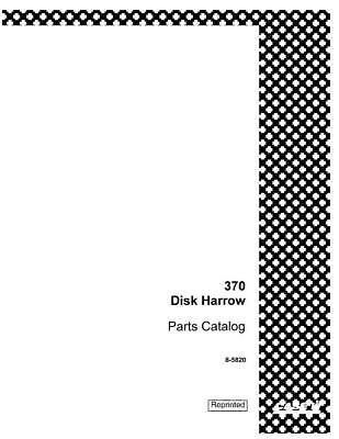 Case Ih 370 Disk Harrow Parts Catalog