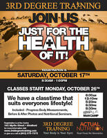 3rd Degree Trainings next round starts OCTOBER 26th