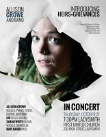 Allison Crowe and Band: Introducing / Heirs+Grievances Ladysmith