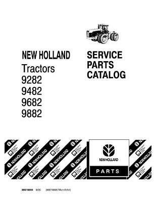 New Holland 9282 9482 9682 9882 Tractor Parts Catalog