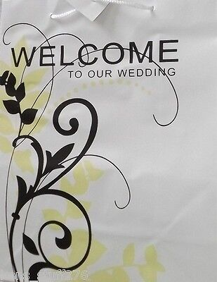 Welcome to Our Wedding Gift Bag, Favors Thank You Gifts for Guests Reception 9