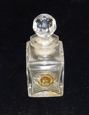 Victorian Antique 1887 Baccarat Crystal Perfume Bottle Ed Pinaud Paris France