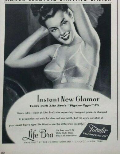 Lot of Vintage 1948 Girdle Bras Stockings Slips Print Ads Ephemera Art Decor