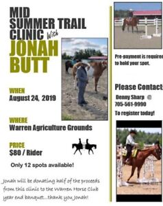 Mid-Summer Trail Clinic with Jonah Butt
