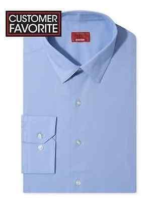 NWT $89 ALFANI Men's SLIM-FIT STRETCH BLUE LONG-SLEEVE DRESS SHIRT 16-16.5 34/35