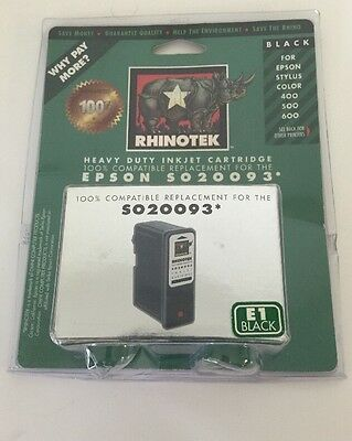 RHINOTEK Black Heavy Duty Inkjet Cartridge Replacement Epson SO20093 ()
