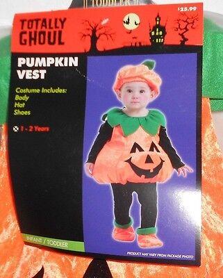 Infants Toddlers Halloween Costume Pumpkin Jack O Lantern 12-24 Mths 1-2 yrs New](Toddlers Halloween)