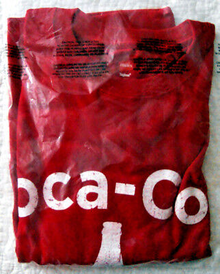 Coca - Cola EST. 1886 Red Men's Size Large SS T-Shirt Hanes Tagless  NEW