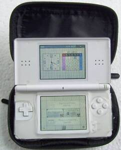 White Nintendo DS Lite with White Case