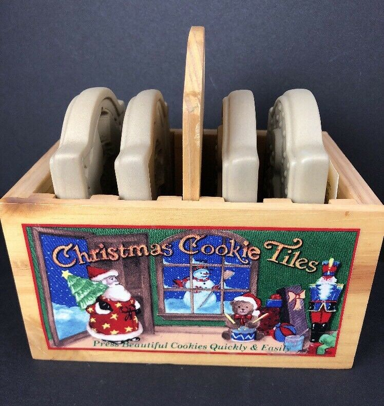 BROWN BAG CHRISTMAS COOKIE MOLD TILES 1999 Gingerbread Boy Girl Bear Nutcracker