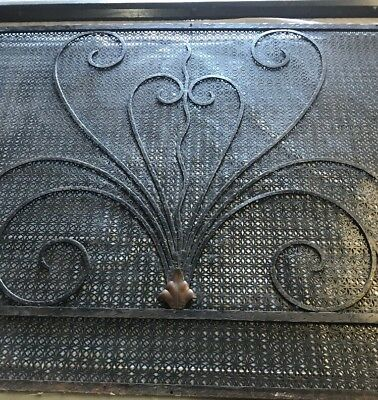 Exceptional Gothic French Art Deco Vent Wall Register Radiator Covers W/ Bronze ()