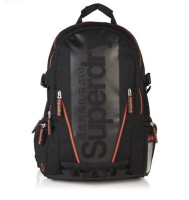 Superdry Diamond Tarp Backpack - Black BNWT