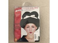 Halloween geisha wig