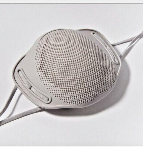 Reusable Face Mask Silicone With Non-Woven Filters & 2 Brackets No Eyeglass Fog