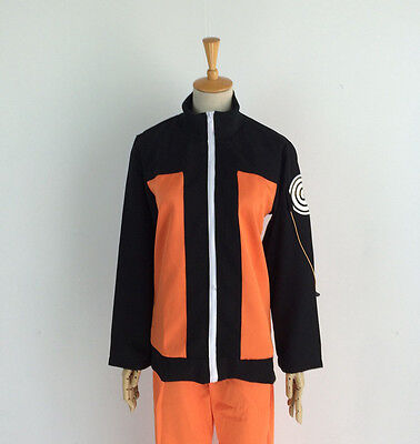 Naruto Costums (Naruto Shippuden Uzumaki Costume Jacket+Pant Complete Set for Halloween)