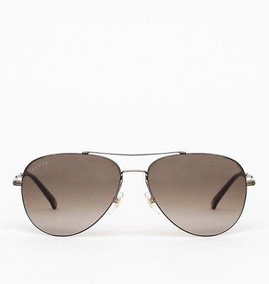0c882b13c894a Gucci Ultra Lightweight Steel Frame Aviator Sunglasses