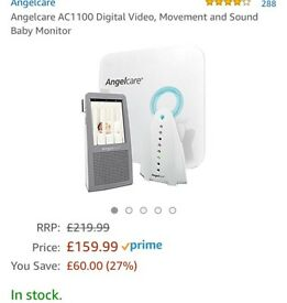 Angelcare video + movement + sound baby monitor