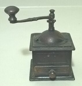 Vintage Miniature Coffee Grinder Copper Pencil Sharpener