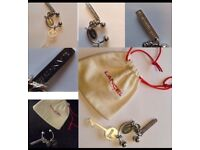 Rrp £65 French designer Lancel accessories charm key ring