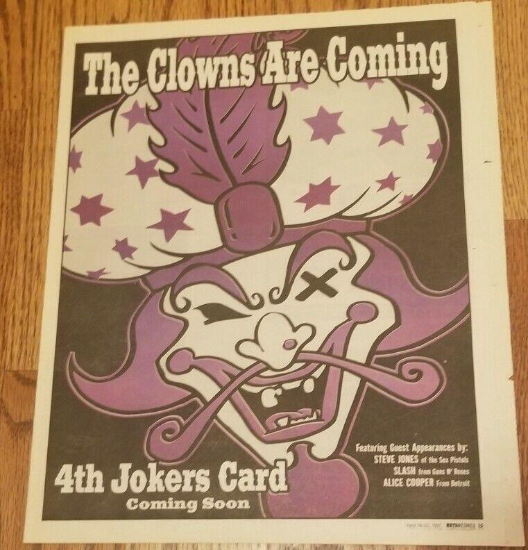 Insane Clown Posse - The Great Milenko Newspaper Ad Flyer slash alice cooper icp