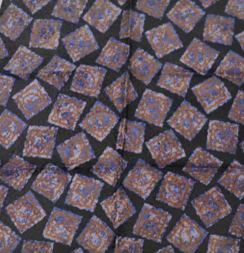"New SANTOSTEFANO Black Blue Brown 12"" Silk Pocket Square Handkerchief NWT $150"