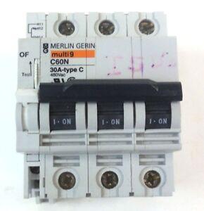 Merlin gerin multi 9 c60n 30a type c circuit breaker - Merlin gerin multi 9 ...