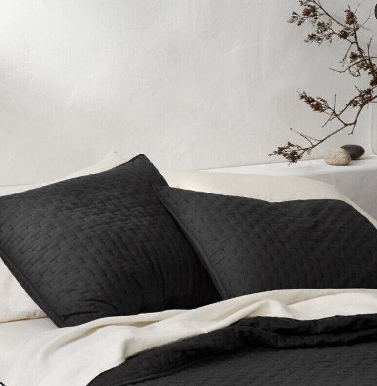 Cashmere Blend Quilted Pillow Sham - Casaluna Standard