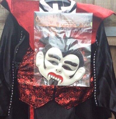 NEW TU CAST A SPELL FANG TASTIC VAMPIRE DRSS UP COSTUME BOYS HALLOWEEN 7-8 YRS