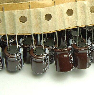 10pcs-- 330uf 25v Radial Electrolytic Capacitor 25v330uf Nichicon Pw Low Esr