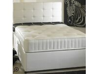 Double Bed King size + Memory Foan + Divan Bed 4x Drawers Colour: Ivory Base