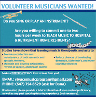 Calling all volunteer musicians!