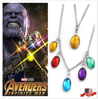 US! Avengers Infinity War Thanos Power Stones Necklace Cosplay Gifts PropJewelry - Avengers Jewelry