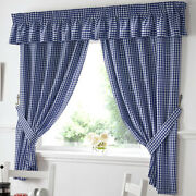 Blue Check Curtains