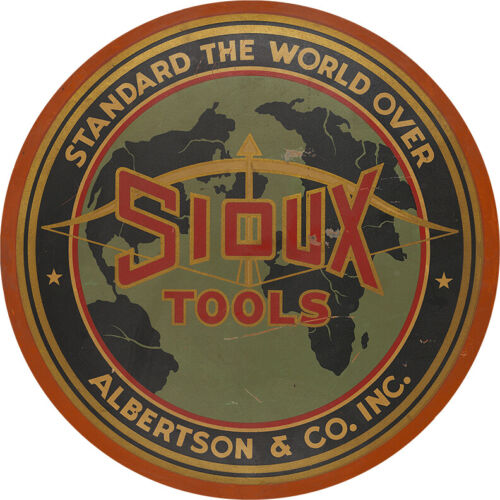 SIOUX TOOLS ADVERTISING METAL SIGN