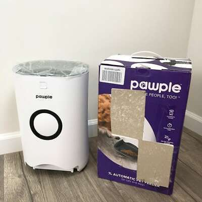 Pawple Automatic Programmable Pet Feeder Food Dispenser Small Animals White New