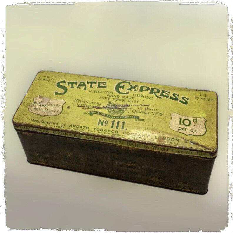 Vintage Empty STATE EXPRESS Tobacco TIN No. 111.