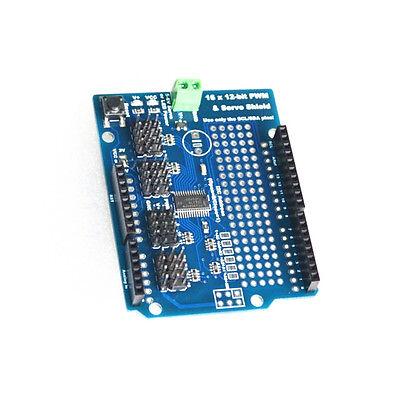 16 Channel 12-bit Pwm Servo Drive Shield Board -i2c Pca9685 For Arduino L