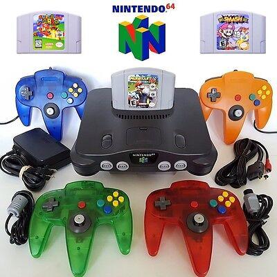 N64 Nintendo 64 Console W  New Controllers   Mario Kart  Smash Bros  Super Mario