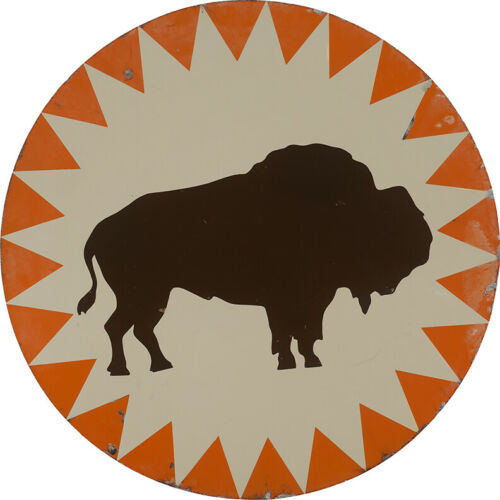 HOUSTON BUFFALOES  METAL SIGN