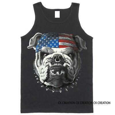 - American Bulldog Graphic Tank Top
