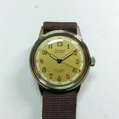 Vintage Swiss Marchand Automatic Bumper watch Military Style