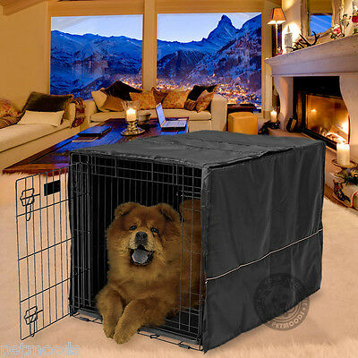 Large Midwest Life Stages - Dog Crate Cage Kennel COVER ONLY Black MidWest Quiet Time Breathable 36