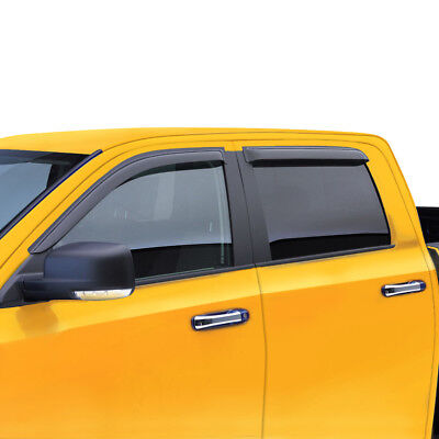 Window Visor Wind Deflector for 01 02 03 04 TACOMA PRE RUNNER CREW/DOUBLE (2004 Toyota Tacoma Prerunner 4d Crew Cab)