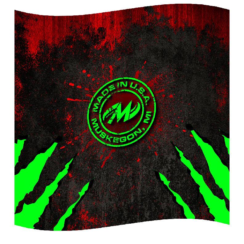 """Motiv Bowling Dye-sublimated Microfiber Towel - 16""""x16"""" High Quality Print"""