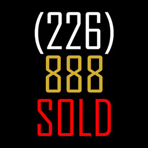 226-888-SOLD - Excellent VIP Real Estate Phone Number for Sale!